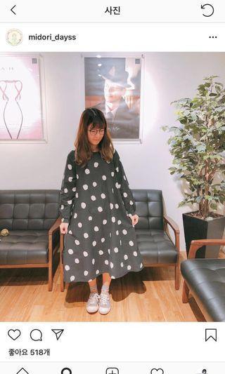 🚚 現貨midori綠購入-波特小姐的點點洋裝