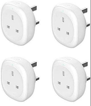 Woostar Smart Socket (4 Pack) With Energy Monitor Function