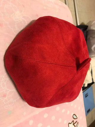 🚚 麂皮絨南瓜帽貝蕾帽