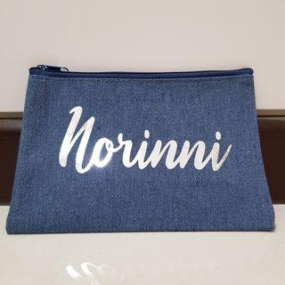 🚚 Mother's Day Denim Pouch with Silver Chrome wordings