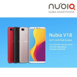 "NUBIA V18 Smart Phone ( 6.0"", 4GB RAM, 64GB ROM, 4000mAh )"