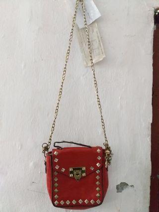 Sling Bag, tas selempang, warna merah