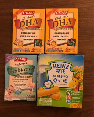 DHA活腦補眼配方/Catalo兒童益生菌強健配方/磨牙棒