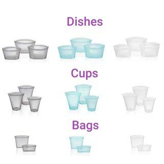 Ziplock Silicon Bags Containers