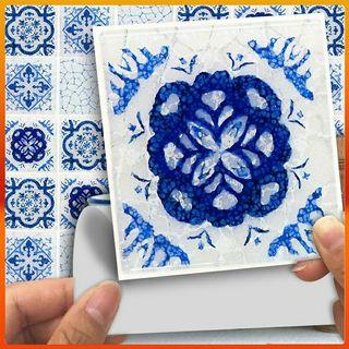 18 pcs Self adhesive tile wall stickers