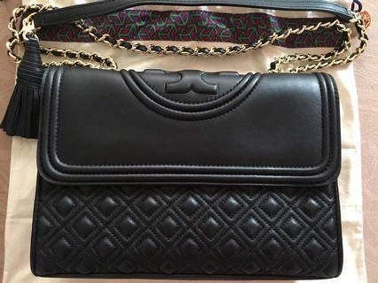 Authentic Tory Burch Fleming Large in Black