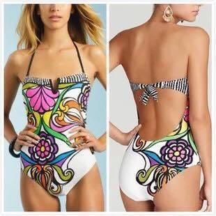 One Piece Sexy Back Swimwear