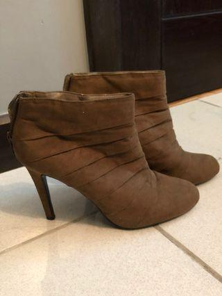 Charles & Keith Suede Booties with Heels REPRICED