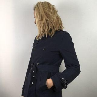 ASOS Trench Coat BNWT Double-Breasted Navy Blue