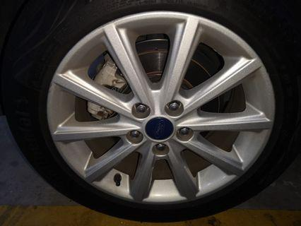 Genuine Ford Rims with Continental CC6 Tyres