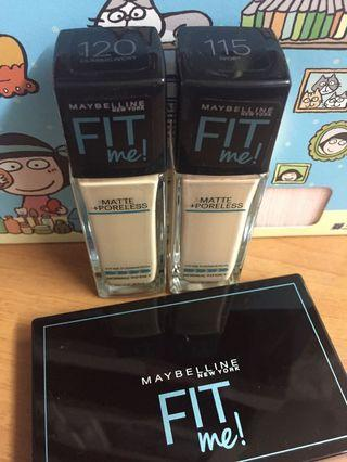 Maybelline Matte Poreless Foundation👩🏻 Fit Me Skin-fit powder foundation
