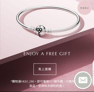 [NEW] Pandora 925 Bangle 銀手鐲 手鈪 One in Million