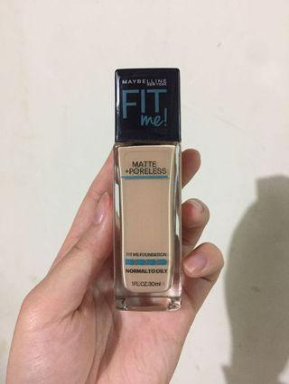 Maybelline Fit Me Matte + Poreless Foundation 120 Classic Ivory 💯New💯