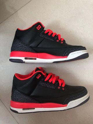 🚚 Air Jordan 3 breds US 6 NO BOX