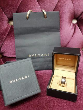 Bulgari B Zero Ring White Gold Authentic Bvlgari