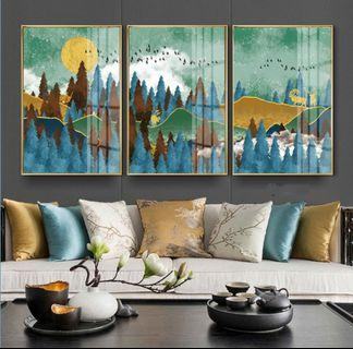 In stock - Abstract mountain canvas painting