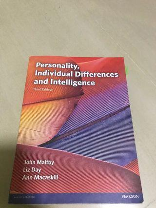 🚚 Personality, Individual Difference and Intelligence