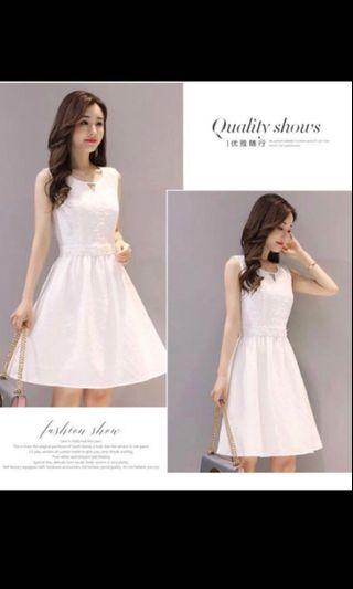 White dress / one piece - suitable for wedding , ROM, dinner , romantic dress