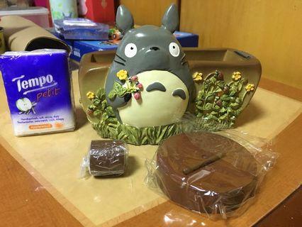 全新絕版龍貓Totoro陶瓷膠紙座