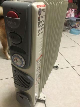 歌林葉片電暖器