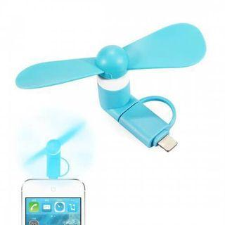 2-in-1 Mini Fan for iPhone & Android