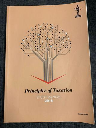🚚 ICAEW Certificate Level Principle of Taxation 2018