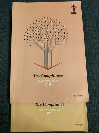 🚚 ICAEW Tax Compliance 2018 Textbook and question bank