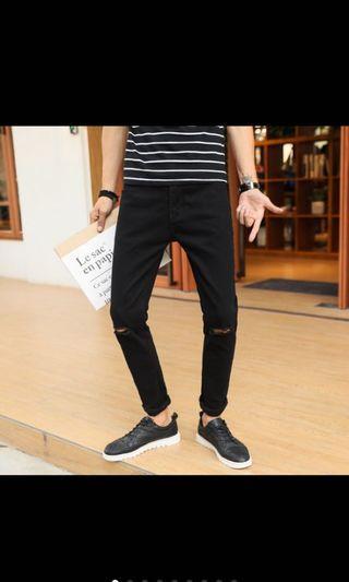 🚚 《尺寸不合故出售》黑破褲