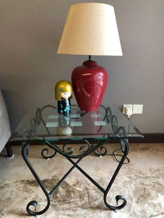 Cellini glass coffee & side table