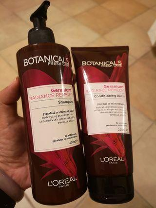 🚚 L'Oréal Botanicals Shampoo 400ml and Conditioner 200ml