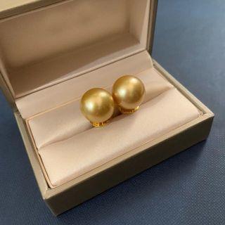 South Sea Pearl Earring, Gold 14.1 mm in 14 karat gold setting