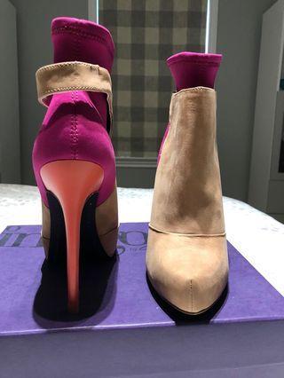 Designer Colour Block Suede Booties - Rachel Roy