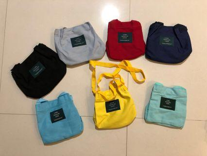 🚚 Yellow canvas sling bag