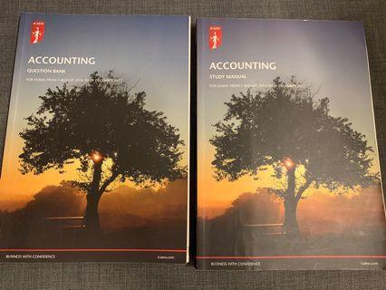 🚚 ICAEW Certificate level Accounting study manual and question bank 2017
