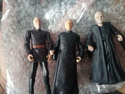 """Star Wars Count Dooku & Palpatine 3.75"""" figures"""