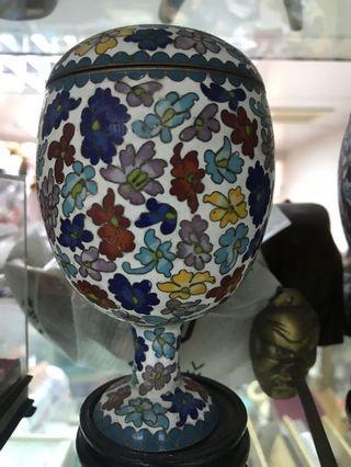 經典收藏搪瓷器的景泰藍 杯