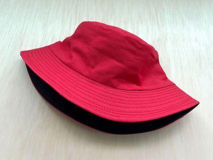 Reversible Red Bucket Hat