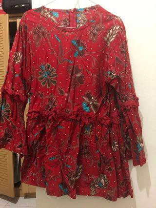 Blouse Batik Red