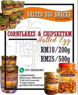 Salted egg snacks