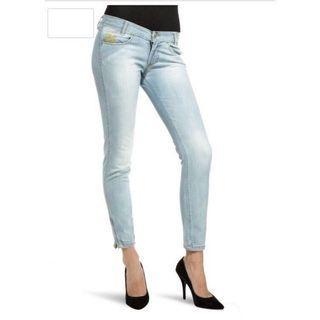 🚚 Twiddle womens low rise skinny Jeans raw denim ★navy blue/w2