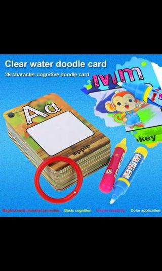 **Instocks** 26 Alphabets Water Drawing Cards