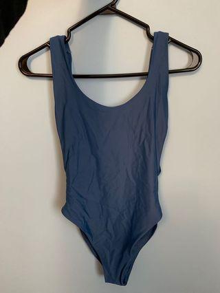Blue one piece bathing suit/ swim suit size small