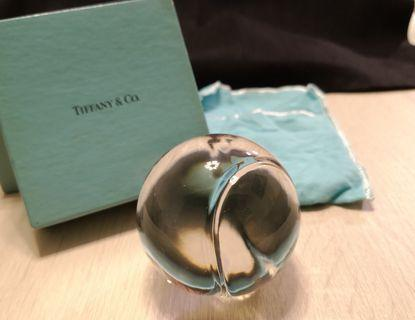 (經典收藏) Tiffany & Co. ~ Crystal tennis ball paperweight