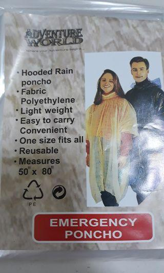 Poncho (plastic, disposable)