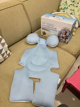 air cossi超透氣抗菌天絲推車坐墊-寶寶頭頸支撐款