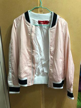 粉紅色棒球外套 薄褸 pink jacket