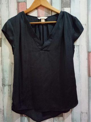 Dark grey silk top