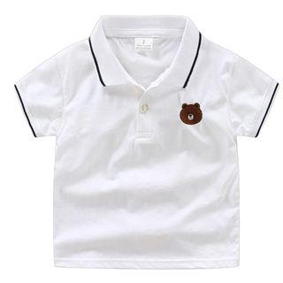 Brown Line Friend Polo T shirt