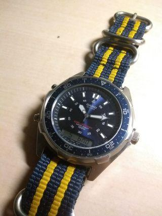 Casio amw-320R diver style watch