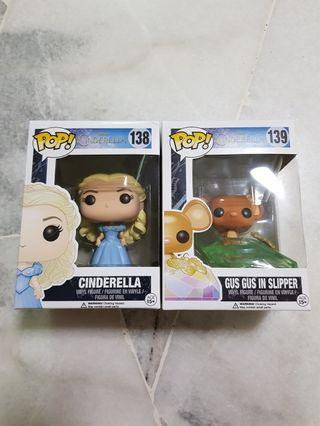 Funko Pop Cinderella and GusGus